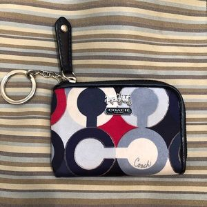 Coach Small Zip Wallet /Keychain/ ID/change pouch
